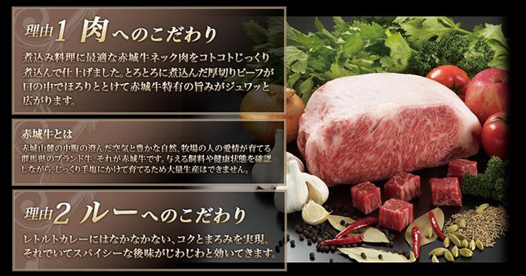 赤城牛ビーフカレー10個入り/中辛5個辛口5個 商品説明